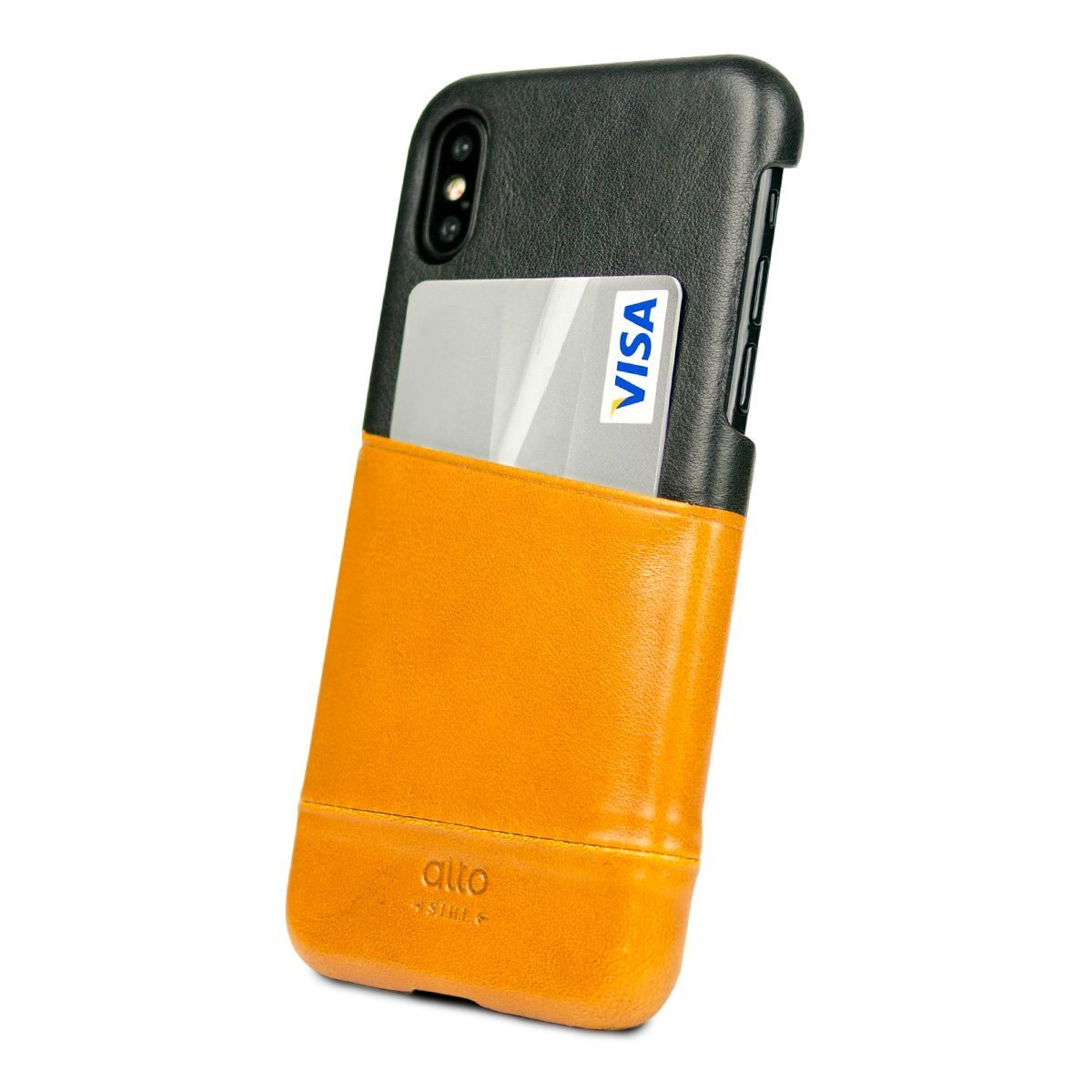 Iphone X Xs Metro Leather Case Caramel Raven Alto
