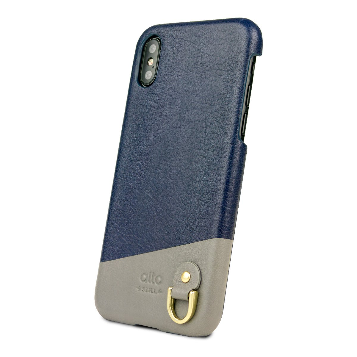 Iphone X Xs Anello Leather Case Navy Alto Iphone