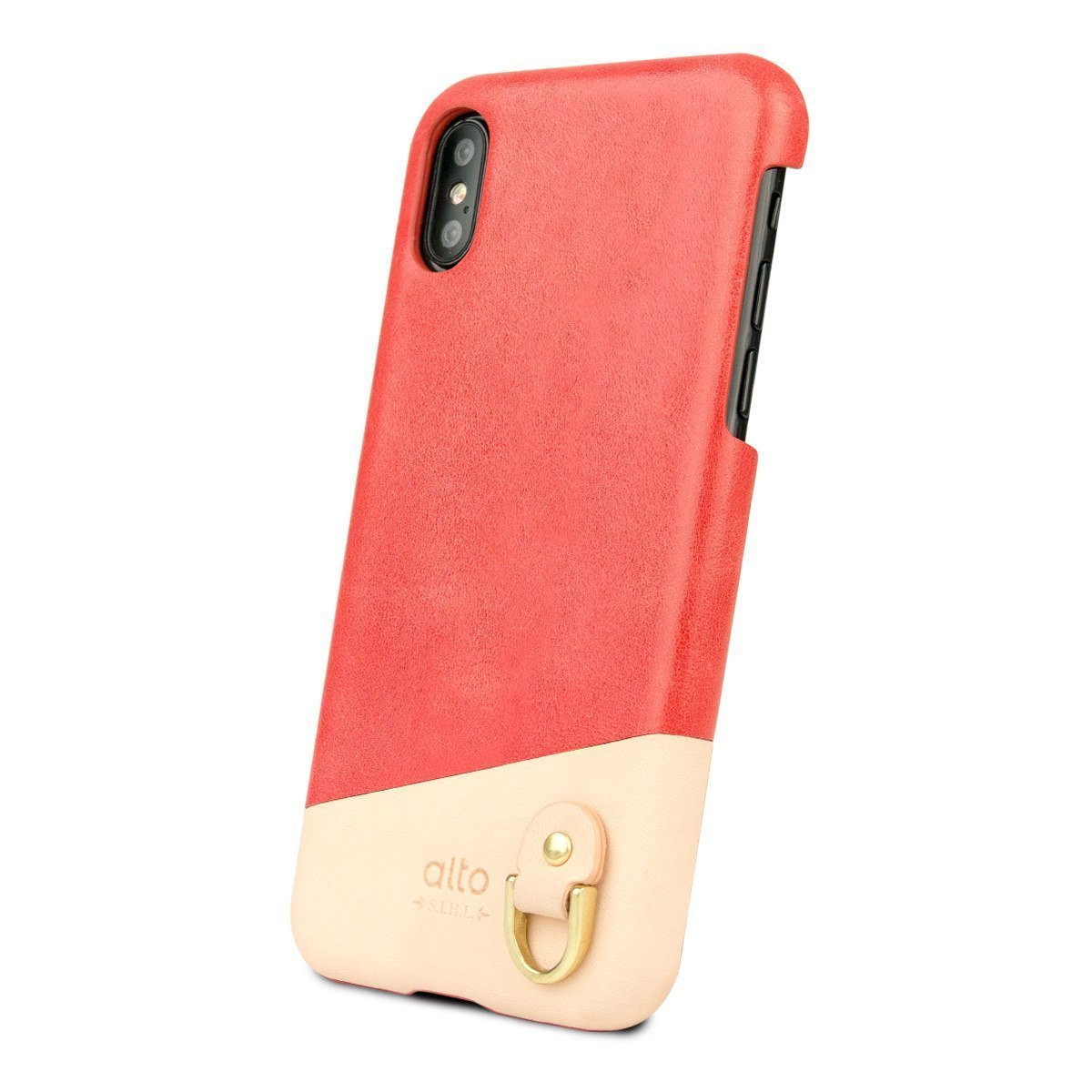 IPhone X/Xs Anello Leather Case - Coral