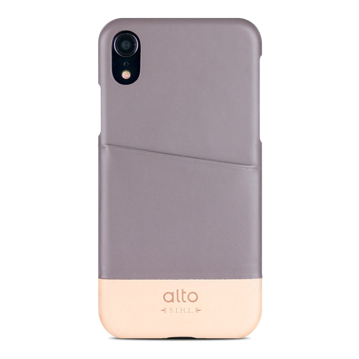Iphone Xr Metro Leather Case Cement Original Alto